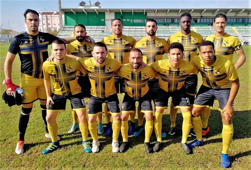 Equipa do Vasco da Gama que jogou em Alcochete