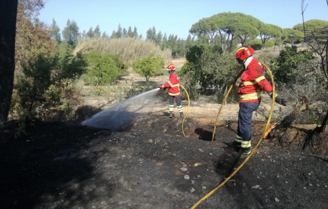 Bombeiros combateram incêndio em Sines