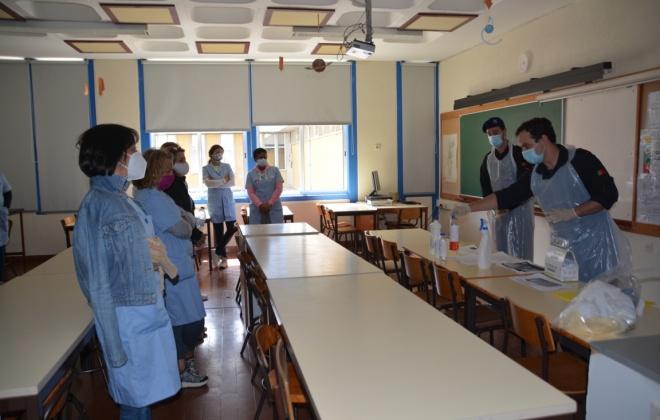 Marinha dá formação em desinfeção a auxiliares de ação educativa