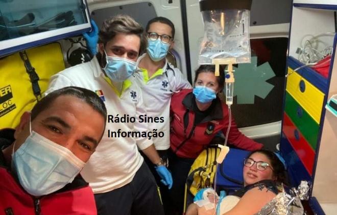 Menina nasce em ambulância dos Bombeiros de Sines