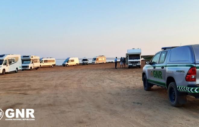 GNR detetou 31 infrações em fiscalização ao campismo e caravanismo ilegal