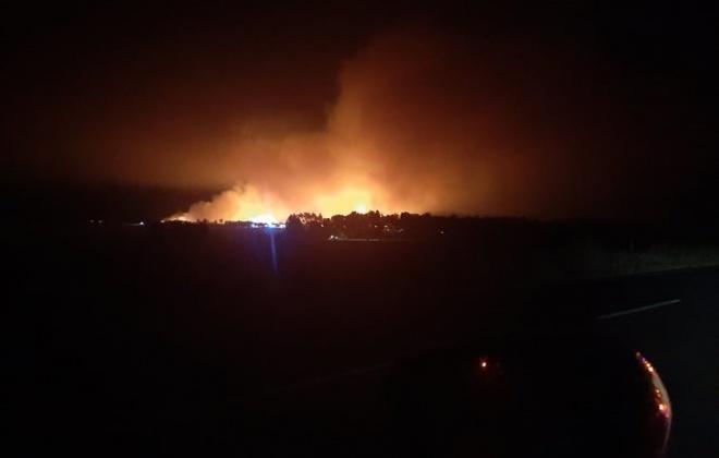 Incêndio consome área florestal perto do Sitava na freguesia de Vila Nova de Milfontes