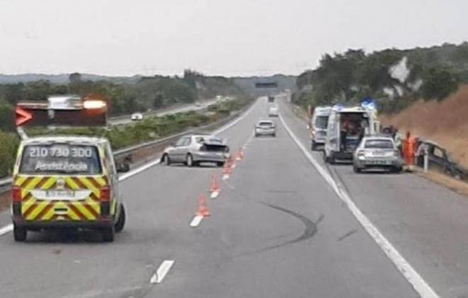 Colisão provoca três feridos ligeiros na A2, em Alcácer do Sal