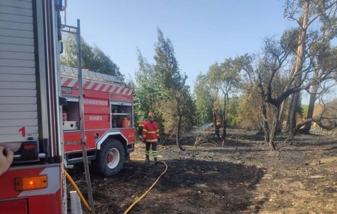 Bombeiros combateram incêndio na Ribeira de Moinhos em Sines