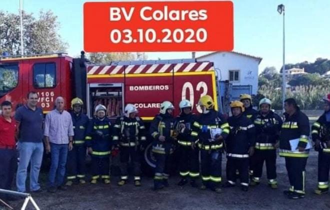 Bombeiros de Santiago do Cacém e Alvalade em formação no C.B de Colares