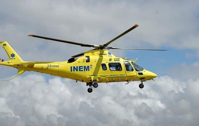Doente foi helitransportado do HLA para Lisboa