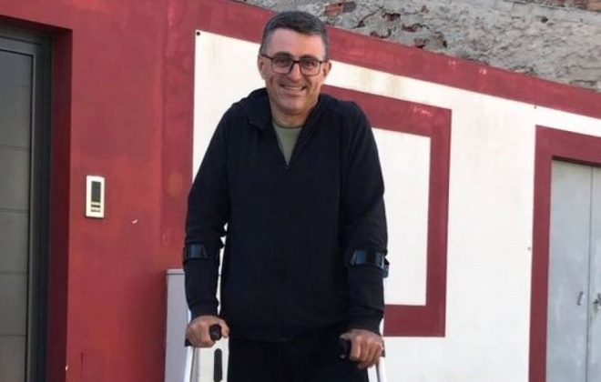 Comandante Luís Oliveira já está em casa em recuperação