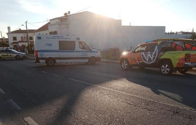 Vítima do acidente em Vila Nova de Milfontes morre no Centro de Saúde de Odemira