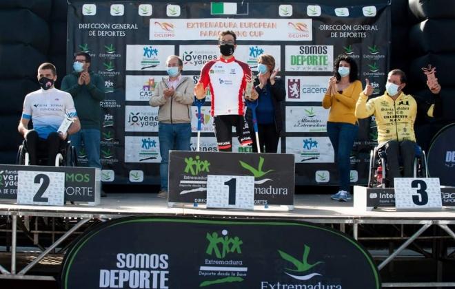 Paraciclista Flávio Pacheco esteve em destaque em Espanha