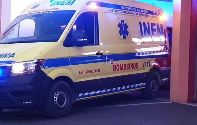 Colisão provoca quatro feridos em Santiago do Cacém