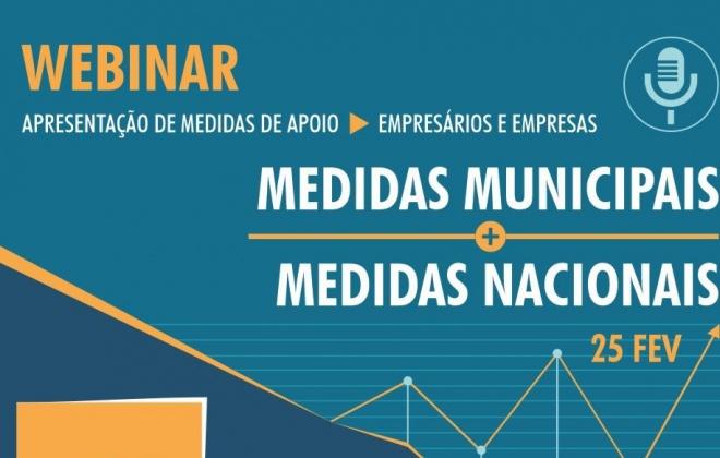 Webinar explica apoios municipais e nacionais para empresas e empresários