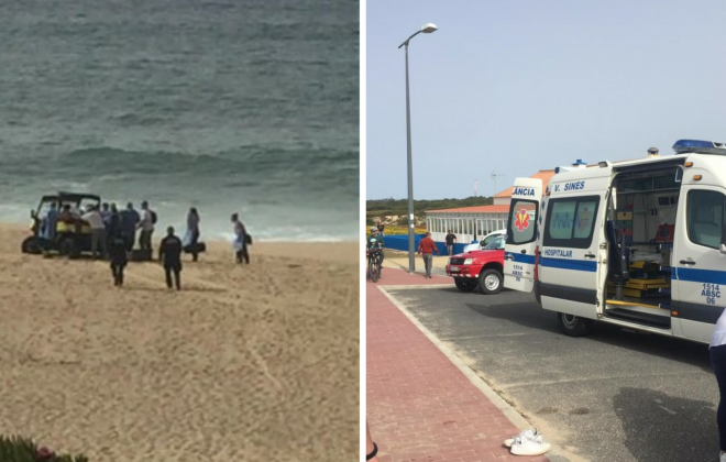 Jovens salvam mulher na Praia da Costa do Norte em Sines