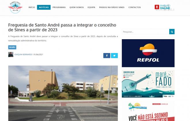 Mentira do dia 1 de abril: Santo André não vai passar para o concelho de Sines