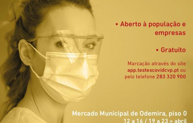 Centro de Testagem à Covid-19 de Odemira abre esta segunda-feira dia 12 de abril