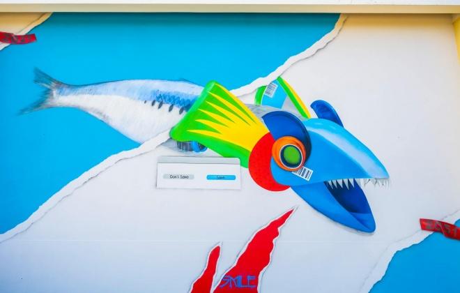 Escola EB 2,3 Vasco da Gama recebeu mural de arte urbana