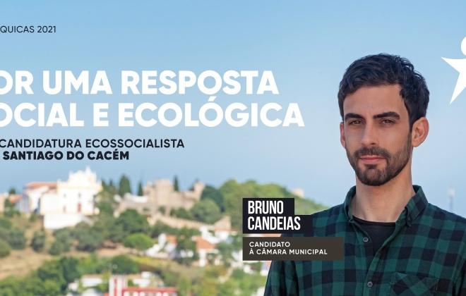 Autárquicas2021: Bruno Candeias é o candidato do Bloco de Esquerda à C.M. de Santiago do Cacém