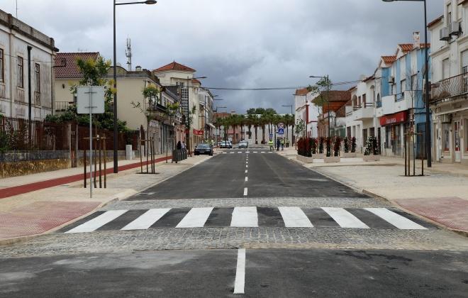 Está concluída a 1ª fase da Obra de requalificação da Avenida Jorge Nunes em Grândola