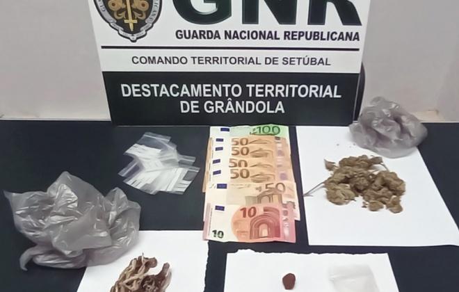 Homem detido em Grândola por tráfico de droga