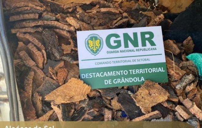 GNR recupera 180 quilos de cortiça furtada em Alcácer do Sal