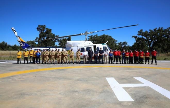 Grândola conta com forte dispositivo de combate a incêndios que serve a região