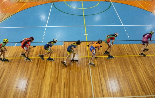 Sines está a receber uma prova nacional de patinagem de velocidade