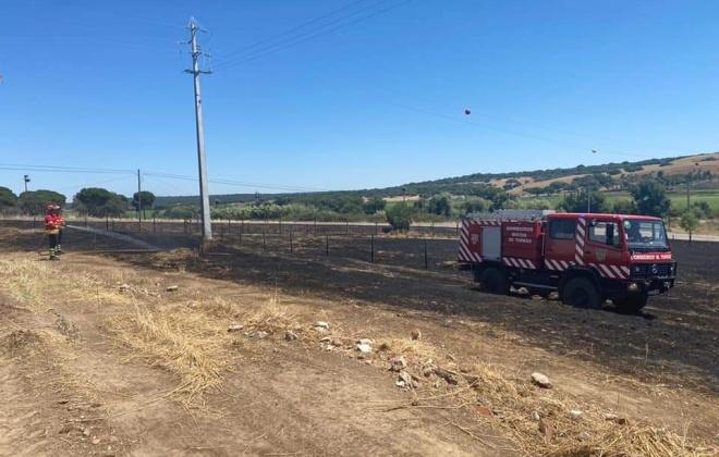 Incêndio consumiu área de pasto perto do Torrão