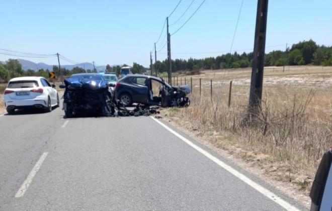 Colisão frontal provoca cinco feridos em Vila Nova de Milfontes