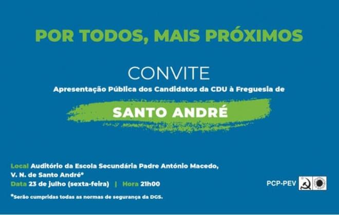 Autárquicas: CDU apresenta candidatos à Junta de Freguesia de Santo André